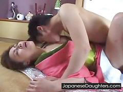 Japanese, Teen, Japanese daughter, Brutal