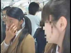 Bus, Cumshot facial, Schoolgirl bus, Schoolgirl facial, Schoolgirl cumshot, On a bus