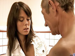 Old young, Masturbate young, Young oral, Young blowjob, Shaved cock cumming, Licking cock