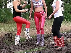 Trailers, Trailer girls, Trailer girl, Trailer blonde, Wellies, Trailer