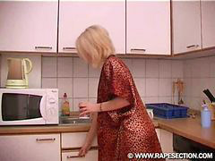Babe, Blonde, Kitchen, Attackers, In kitchen, Kit