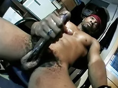 Stroking, Big oil, Oiled solo, To big, Oked, Wank cum