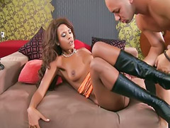 Boots, Ebony black, Boots licking, Nice job, Interracial facials, Ebony sex