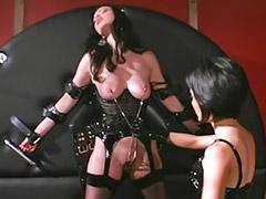 Spanking, Lesbian, Latex