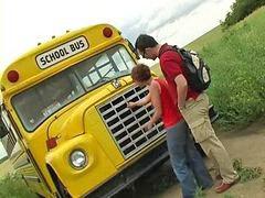 Автобус, D автобусе, Школ, Школа, Школа