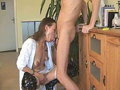Gagging, Gag, German, Wife bj, Deepthroat wife, German deepthroat