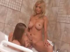 Bathroom, Milf, Teen, Teen lesbian, Lesbian big
