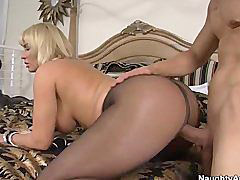 Big tits, Pantyhose, Big, Blonde, Tits, Cougar