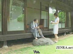 Japanese, Outdoor, Penis, Subtitle
