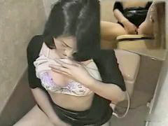 Toilet, Japanese girl, Japanese, Masturbation