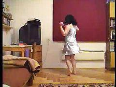 Chubby wife, Wife dancing, Wife dances, Wife dance, Chubby dance, Chubby dancing