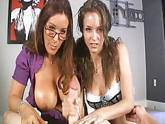 Mom, Teen moms, Teen handjobs, Mom and teen, Teen handjob, Teen