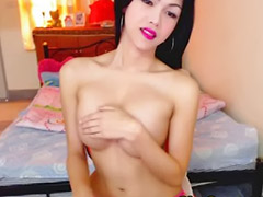 Shemale, Webcam, Asian black cock, Amateur shemale, Asian tits, Big cock shemale