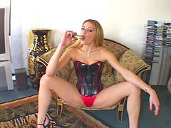 Glasses, Spanked, Spank, Inside, Ass, Corset