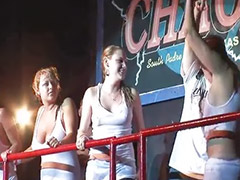 Wet tshirt, Nice tits, Contest, Teen public, Amateur public, Tshirt