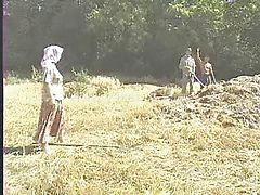 گروهی آمریکایی, در مزرعه, کردن گروهی زنم, مزرعه, ترکی