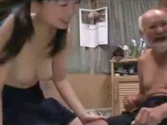 Old man, Creampie, Hairy creampie, Schoolgirl, Old, Hairy