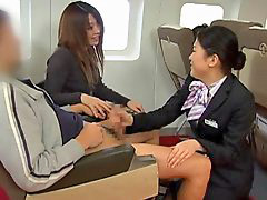 Japanese, Handjob, Stewardess