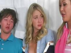 Trio parejas, Adolecente cachonda, Adolescente