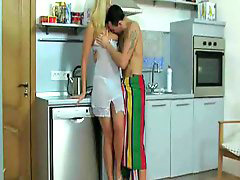 Blond milf, In kitchen, Nails, Blonde milf, The blonde, Nailing