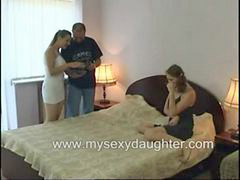 Threesome, Father, Taboo, Sex, Family, Father daughter