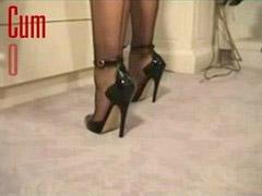 Heels, My cum, On heels, Heels, Heeles, Heel cum