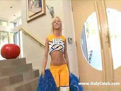 Creampie, A cheerleader, A cheerleader, Cheerleading, Cheerleades, Cheerleader creampie