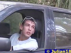 Boy, Young boy, Car