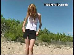 Beach, Teen, Nudist