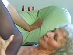 Granny, Cumming granny, Granny big tits, Stocking cum, Big tits sucks, Amateur wife