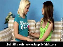 Lesbian teen, Kissing