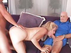 Blonde wife, Creamy, Creami, Licking facial, Horny vaginal, Horny housewifes