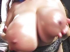 Pantyhose fuck, Titfuck, Real sex, Lingerie anal, Deni, Big tits facial