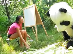 Huge sex, Sex with sex toys, Funny, Panda, Couple with teen, Teen toy