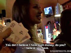 Czech, Public, Toilet, In bar, 2 czech, Barmaid