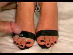 Heels, High heels, Toes, High heel, Spunks, Spunking