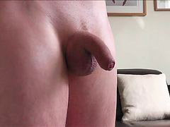 Huge cock, Handsfree, Fun, Hand free, Oily, Playing huge