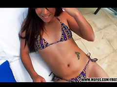 Latin, Bikini, Shaving, Teen pov, Teen facials, Pov oral