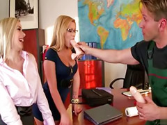 Blowjobs office, Office threesome, Asian threesomes, Asian threesome, Russian threesome, Sex office