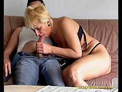 Mom, Big cock blowjob, Blowjob&fucking, Hard cock, Old mom, Big cock mom