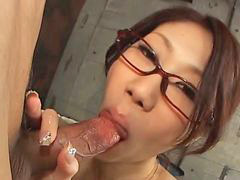 Glasses blowjob, Kana, Fuuka, Blowjob glasses, Gives blowjob, Ass job