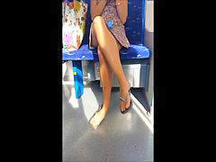 Upskirt compilation, September, Gust, Upskirt train, On train, On a train