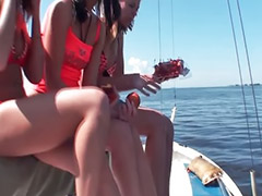 Boat, Threesome outdoor, Asian threesomes, Asian threesome, Sex boat, Teen threesom