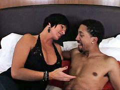 Interracial, Cougar, Youthful, Episode, With boy, Interracial,busty