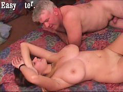 Big boobs, Big blonde, Boob fuck, Old guy, Big boob, Old guy fucked