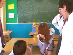 Teacher, Asian gangbang, Gangbang, Japanese teacher, Teacher japanese, Handjob
