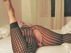 Stockings dildo, Fishnet stockings, Fishnet, Masturbation toy dildo, Masturbating dildo, Milf dildo