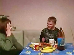 Mom and son, Russian mature, Russian mom