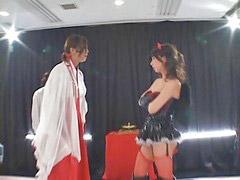 Wrestling, Yuka, Oosawa, Wrestl, Lesbians wrestling, Wrestling lesbian