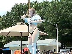 The tease, Teasing blonde, Tease amateur, Public stage, Public blonde, Nudist amateur